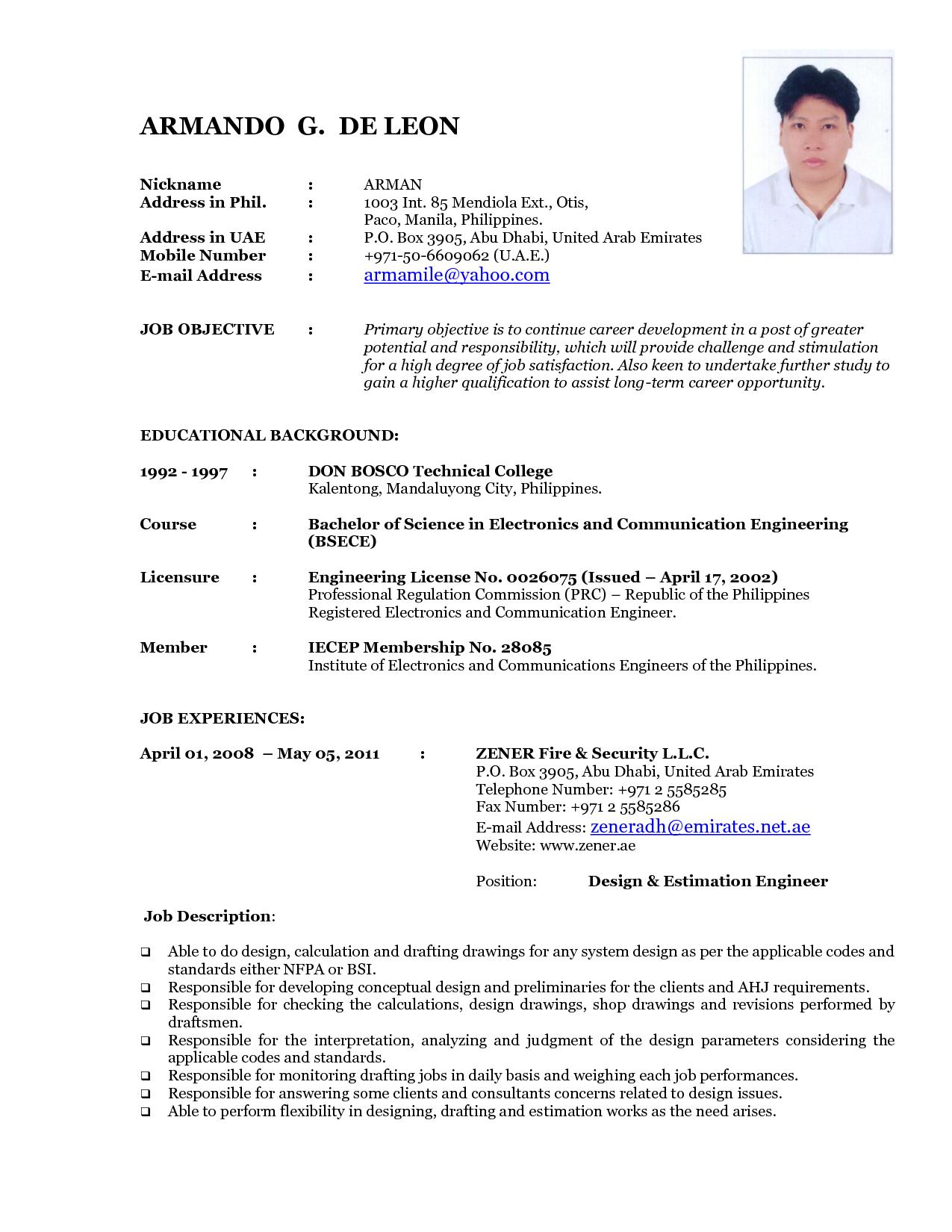 Resume Templates Latest