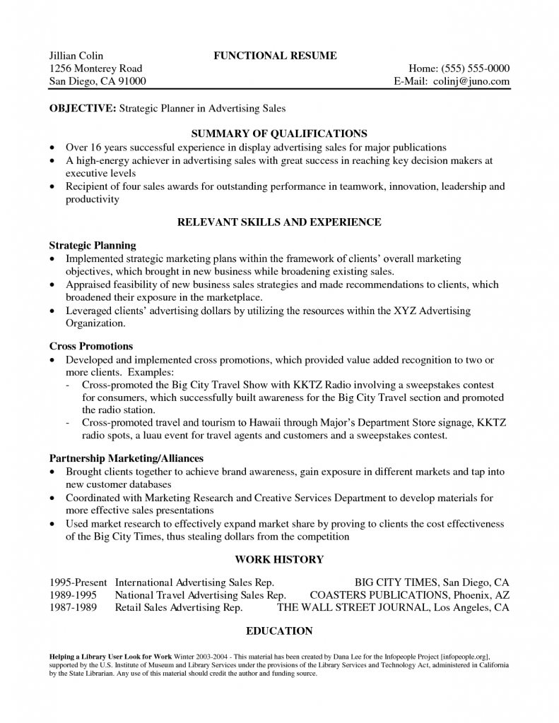 Professional Resume Qualifications Summary Examples